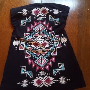 Southwest printed tube top Small